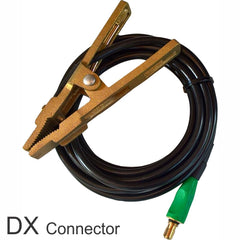 Keztek WELDBrush Earth Cable Lead 3.5m - Assembled - Includes Earth Clamp - with Dinsi or DX Connector