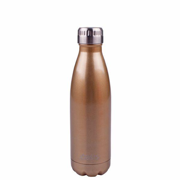 Oasis 500ml - Champagne colour Stainless Insulated Drink Bottle