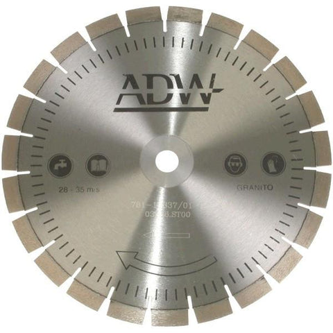 ADW| LSE Laser Segment Silent Diamond Blade - Engineered Stone