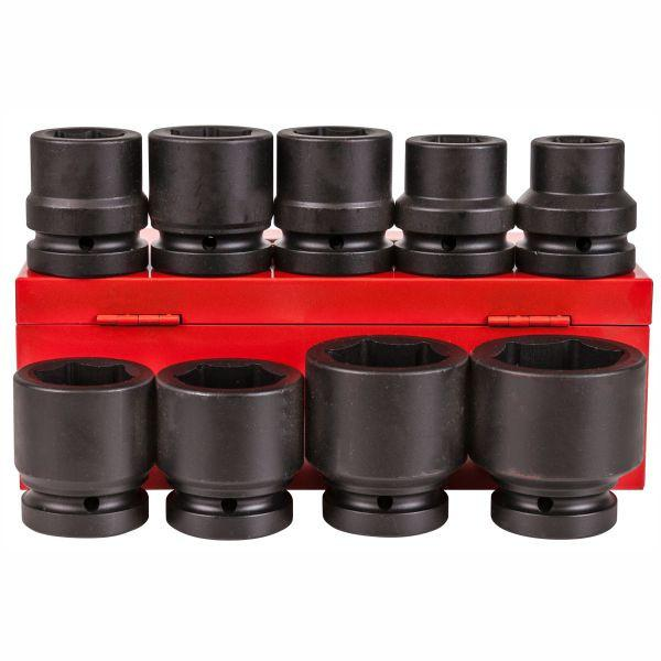 "Alliance 1"" Square Drive Impact Socket Set - 9 Piece - 63mm Long"