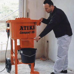 Atika Compact 100Ltr Electric Pan/Mortar Screed Mixer Machine