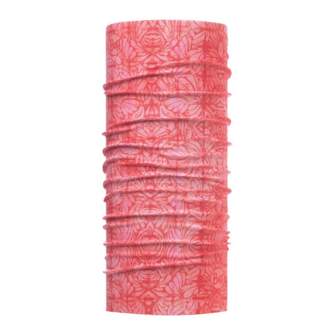 BUFFWEAR® | High UV Multifunction Tubular Neckwear - Calyx Salmon Rose CoolNet UV+®