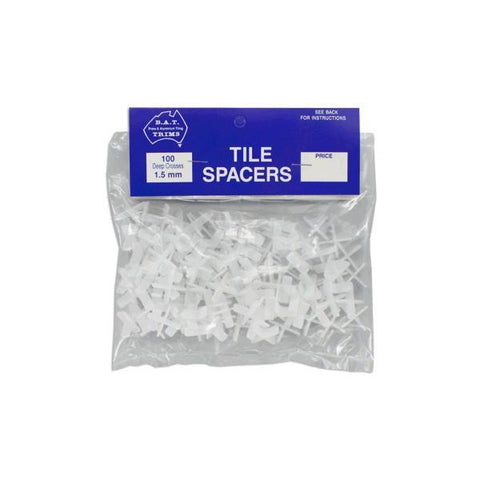 BAT 1.5mm Cross Shaped Tile Spacers - Deep