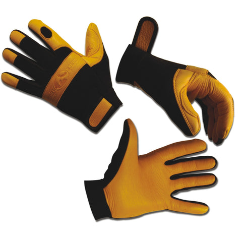 BLACK RHINO | DEERSKINZ Heavy Duty Leather Work Gloves - Pair