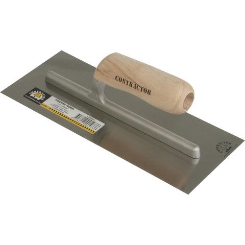 CONTRACTOR | Timber Handle Square Plaster Finishing Trowel - 356mm