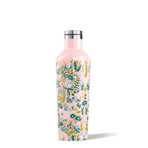 CORKCICLE x RIFLE | Stainless Steel Insulated Canteen 16oz (470ml) - Pink Tapestry