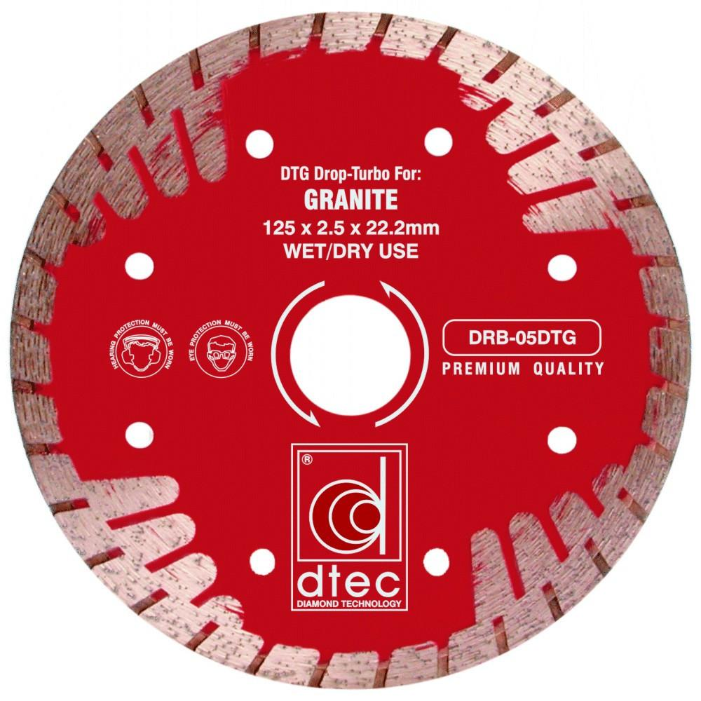 DTEC DTG Drop Turbo Diamond Blade - Granite