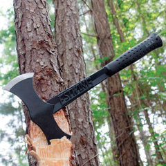 Estwing Black Eagle Double Bit Axe in action