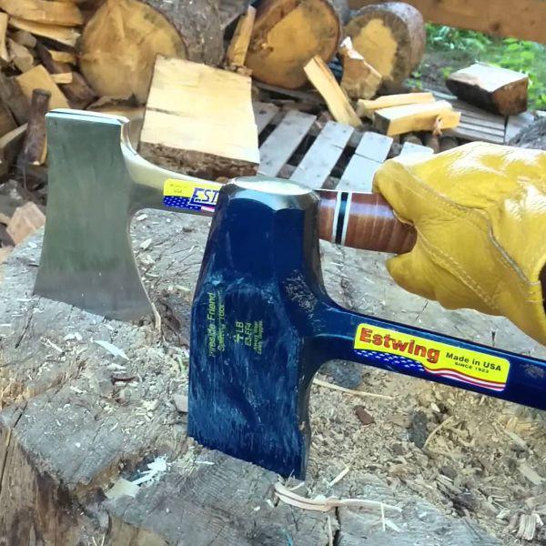 ESTWING | FIRESIDE FRIEND Splitting Tool with Sheath - N V S R Grip