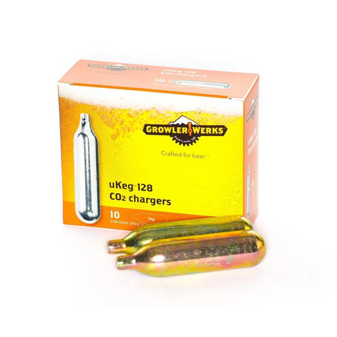 GROWLERWERKS | 16g CO2 cartridges, suits uKeg128 - 10pk