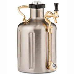 GROWLERWERKS | uKeg 128oz Beer Keg, Stainless Steel