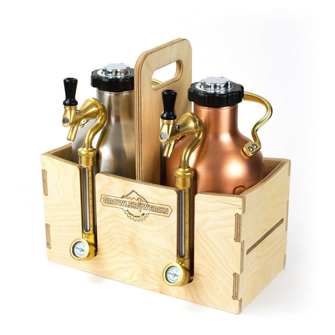 GROWLERWERKS | uKeg64 Wooden Carry Case