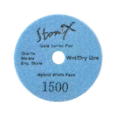 Stonex Hybrid Wet/Dry White Face Polishing Pads - Gold Series - 100mm / 4
