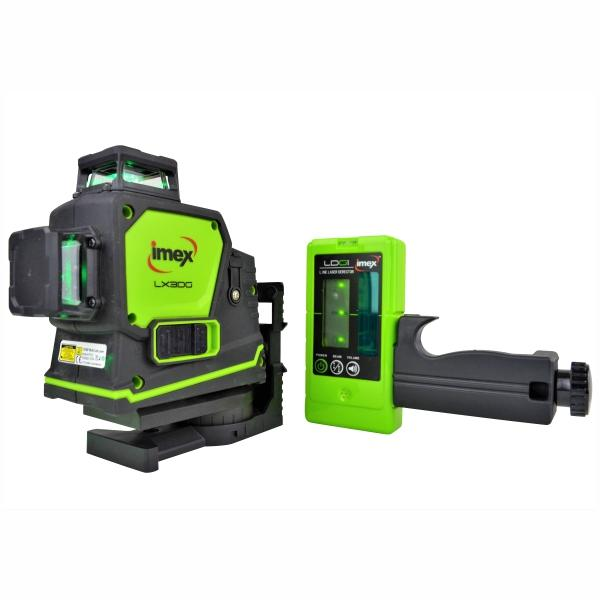 Imex 3D Multi-Line Laser With 3 x 360° Lines + Detector - Green Beam