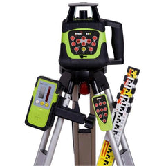 Imex 88G Green Beam Rotating Laser Level Kit - w/- Tripod & 5m Staff