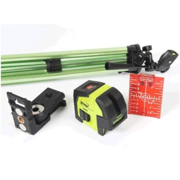Imex LX22S 2 Line CrossLine Plumb Laser Level - Set w/- Elevating Tripod - Red Beam