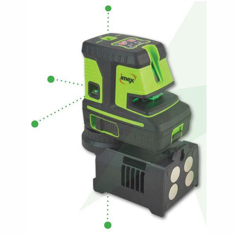 Imex LX25GP 5 DOT 2 Line Laser Level - Green Beam Series 111