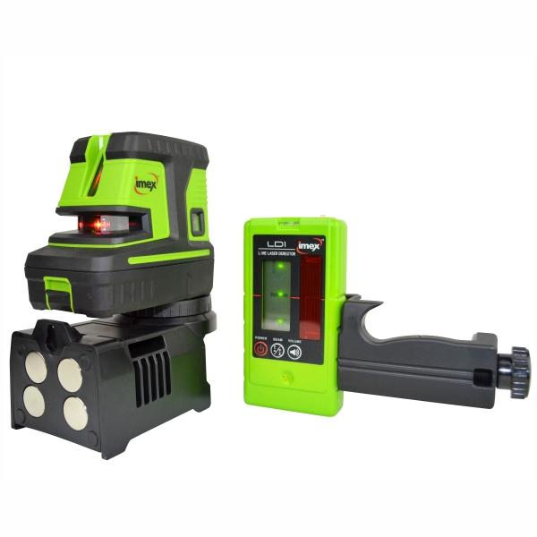 Imex LX25PD 5 DOT 2 Line Laser Level -Red Beam w/- Line Detector Series 111