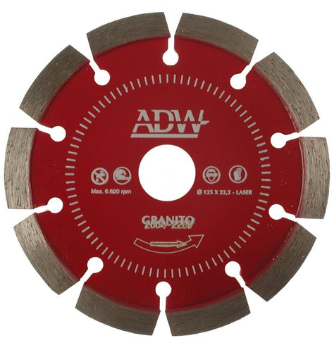 ADW | Laser Welded Segmented Diamond Blade - Granite