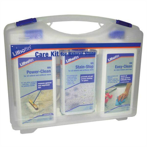Lithofin MN Care Kit BE for benchtops - Easy-Clean, Stain-Stop, Power-Clean