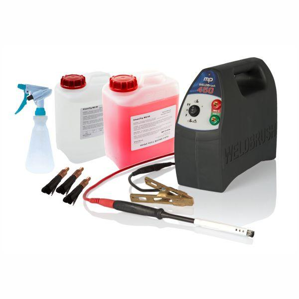 Profile view of WB450 WELDBrush Stainless Steel Weld Cleaning Starter Kit