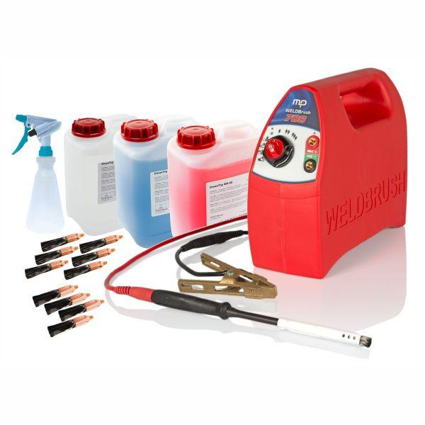 Profile view of MP700 WELDBrush Stainless Steel Weld Cleaning Starter Kit