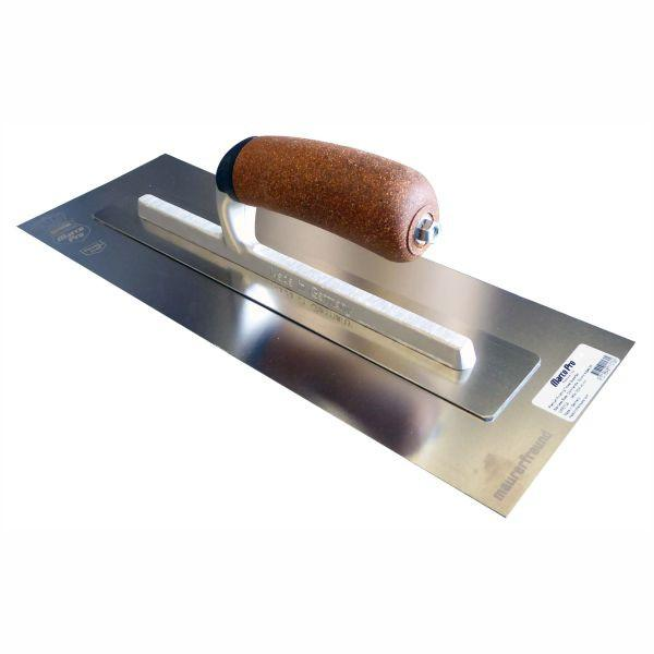 Profile View of Marco Pro - German Premium Finishing Trowel Superflex Stainless with Cork Handle
