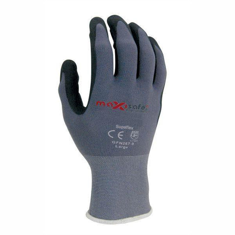 Maxisafe 'SuperFlex' Nylon Glove, Superflex Nitrile Coating - Pair