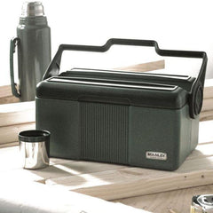 Work Lunch Scene with STANLEY Classic COMBO PACK Vacuum Flask and Cooler