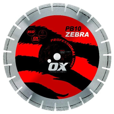 OX Pro PB10 Zebra Abrasive/General Purpose Segmented Diamond Blade
