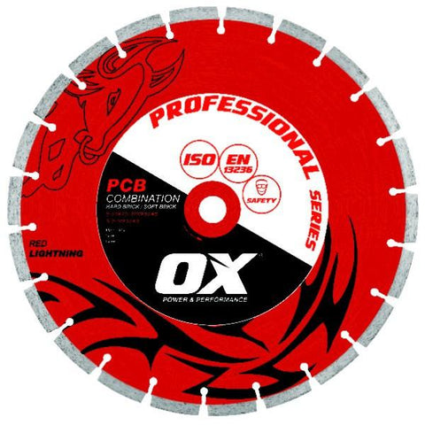 OX Pro PCB 50/50 Combination Segmented Diamond Blade - Brick Saw