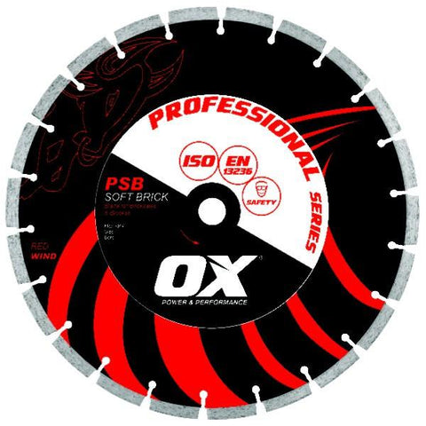 OX Pro PSB Soft Brick/Block Segmented Diamond Blade - Brick Saw