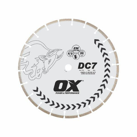 "OX Standard DC7 Concrete General Purpose Segmented Diamond Blade - 5""/125mm"