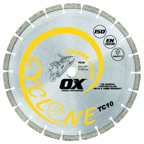 OX Trade TC10 Concrete Segmented Masonry Diamond Blade