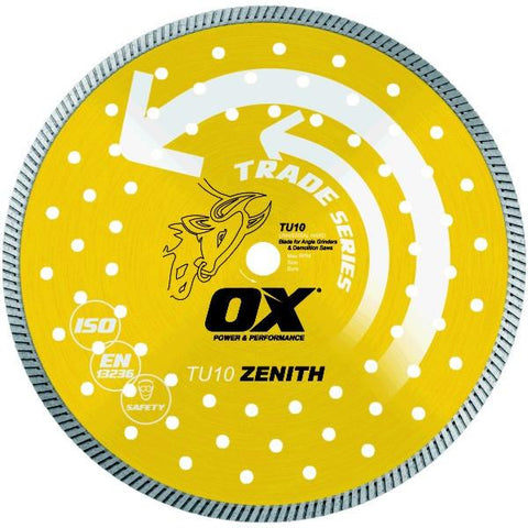 OX Trade TU10 Universal/Hard Turbo Masonry Diamond Blade