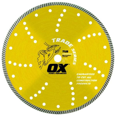 OX Trade TUB Universal Turbo Diamond Blade - Brick Saw