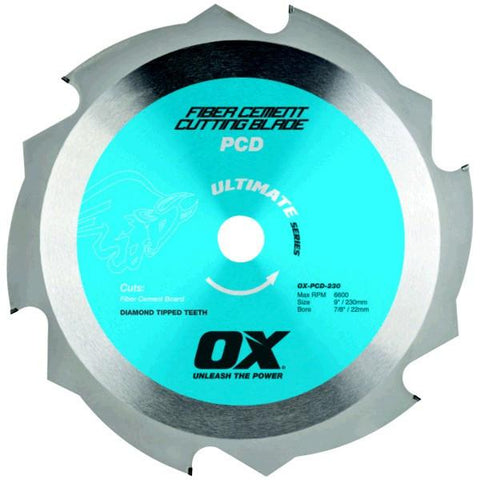 OX Ultimate PCD Fibre Cement Blade
