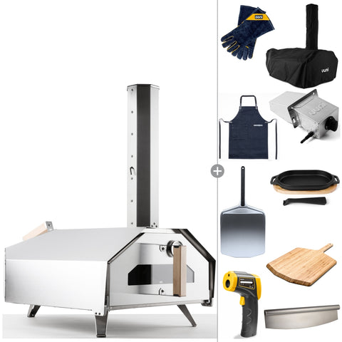 Ooni Pro | Deluxe Outdoor Kit | Portable Pro Woodfired Pizza - Triple Fuel - FREE Shipping Australia Wide