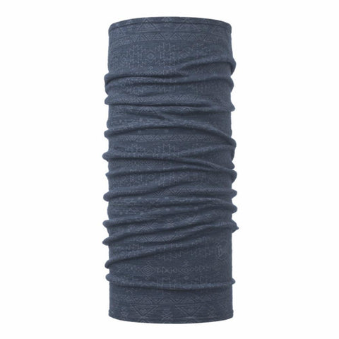 BUFFWEAR® | LW Merino Wool Neckwarmer - Patterned Edgy Denim