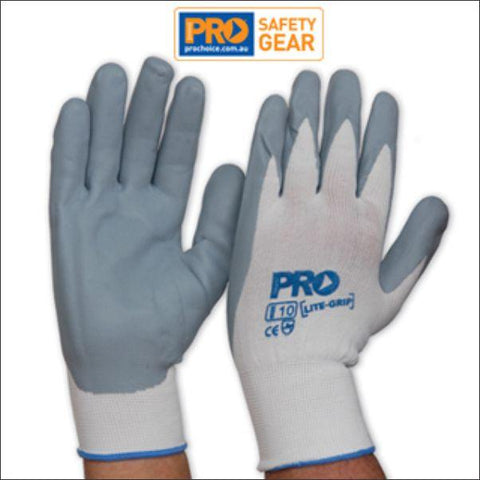 Pro Choice Nitrile Foam Coated Gloves on Nylon LiteGrip NNF - Pair