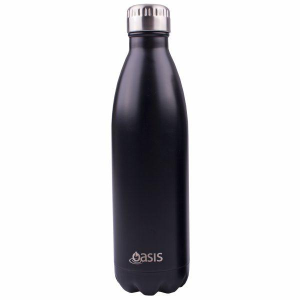 Oasis 750ml - Matt Black Colour Stainless Insulated Drink Bottle