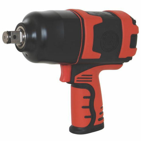 "Shinano 3/4"" Pistol Impact Wrench, Twin Hammer - SI1550"