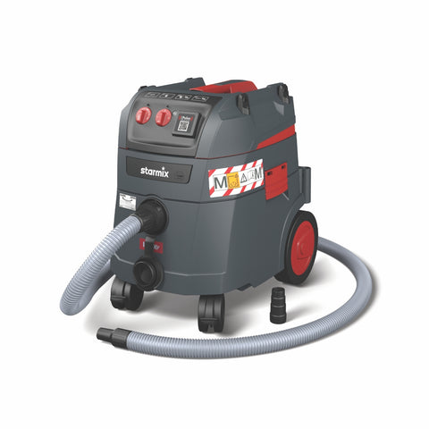 "Starmix® 35L (Wet/Dry) Dust Extractor ""M Class"" ""IS"" iPulse AISP35M Series with Permanent Clean System"