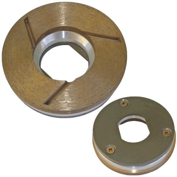Stonex Bronze Diamond Edge Cup Wheel - Magnetic - 100mm Diameter