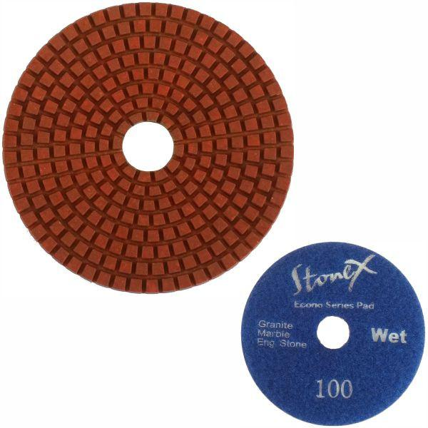 Stonex Dark Face Flexible Wet Polishing Pad - Econo Series - 100mm / 4""