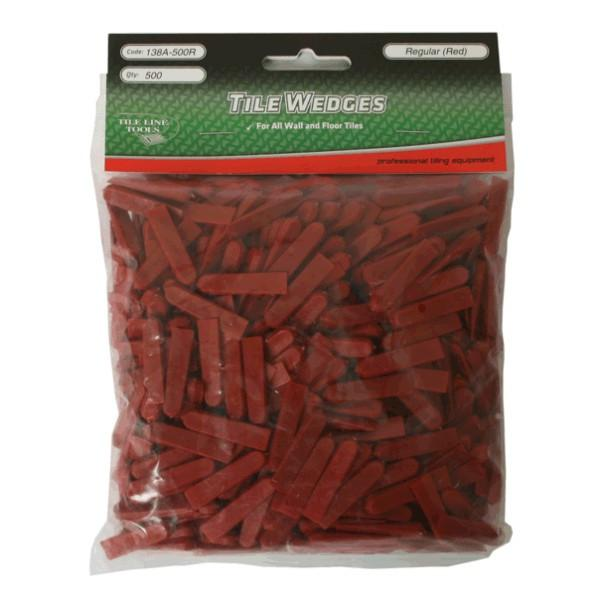 TILELINE | Floor and Wall Tile Wedges - 5mm - Red