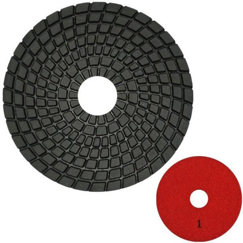 Unitec 100mm Flexible Polishing Pad - Engineered Stone - 6 Step