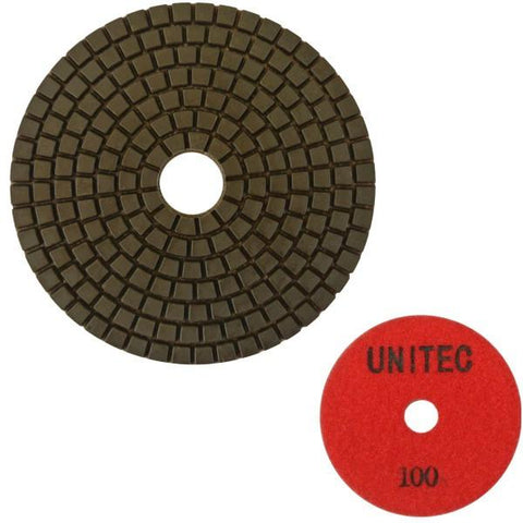 Unitec 100mm Flexible Pro Polishing Pad - Engineered Stone