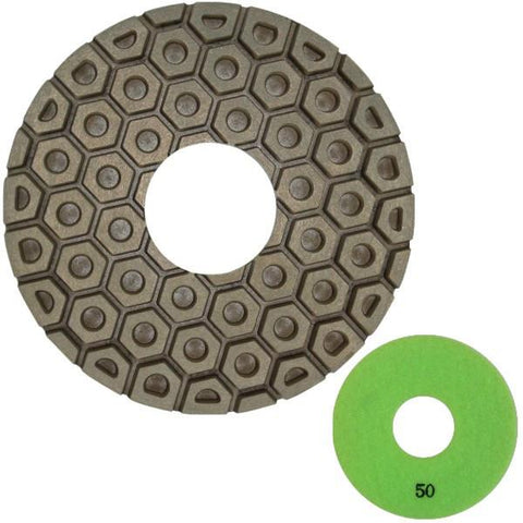 Unitec Copper Bond Polishing Pad - Hook and Loop Backed
