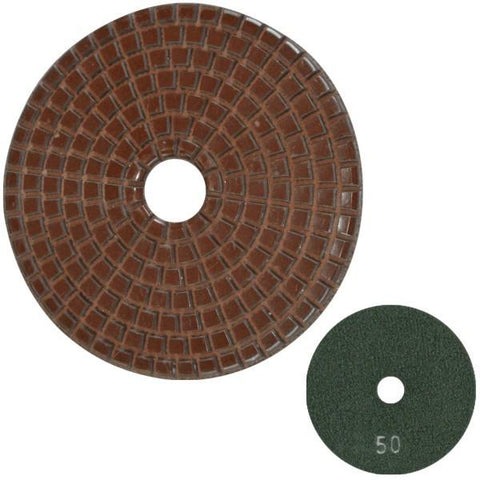 Unitec Copper Bond Polishing Pads - Hook and Loop Backing